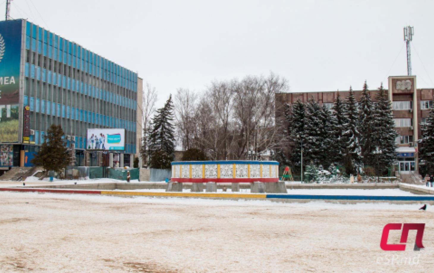 Центральный фонтан в Бельцах