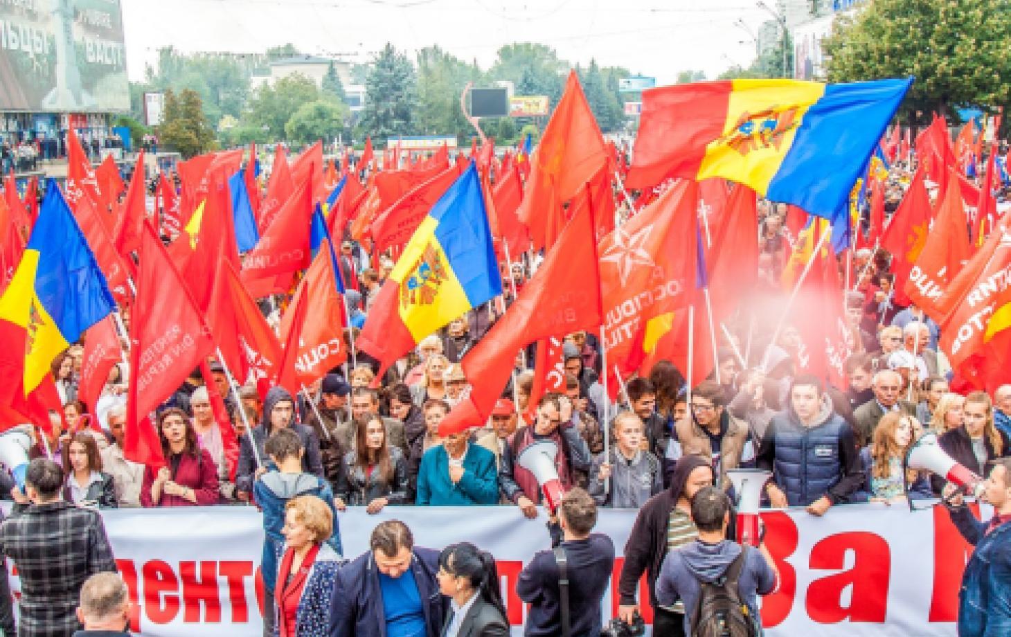 Митинг социалистов в Бельцах
