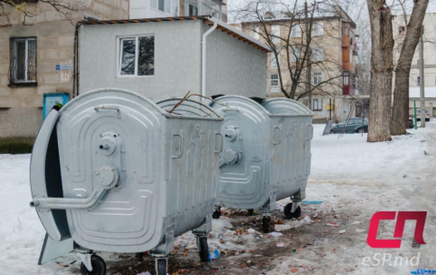 мусорные баки, вывоз мусора в Бельцах