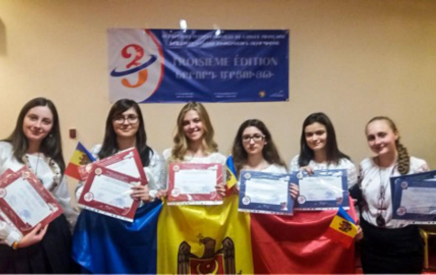 Молдавская команда вернулась с Международной олимпиады по французскому языку с наградами