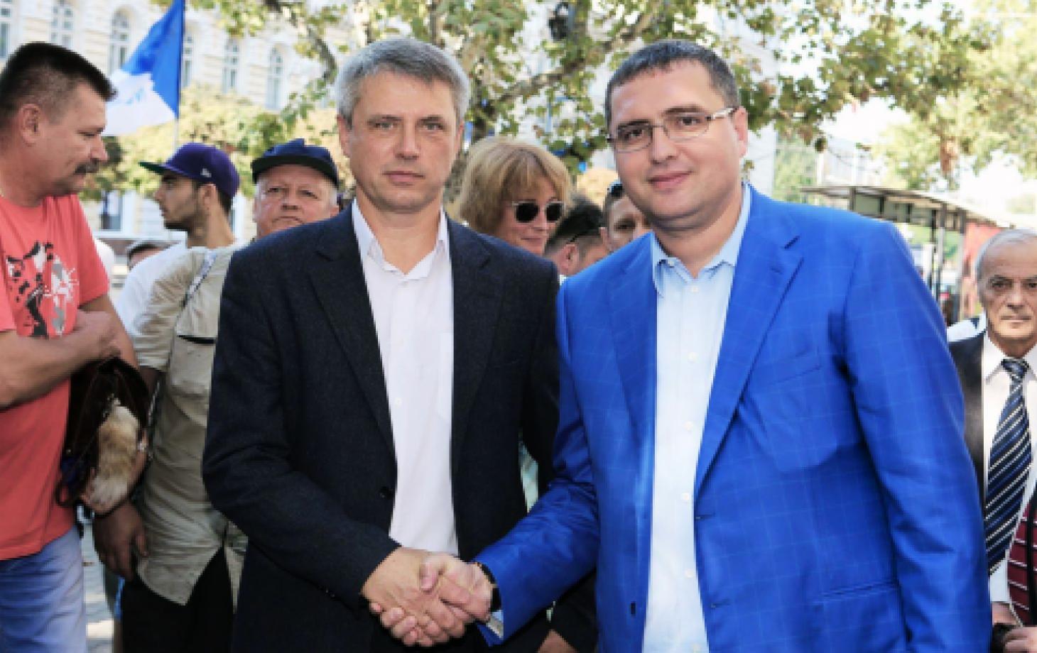 Ренато Усатый и Дмитрий Чубашенко