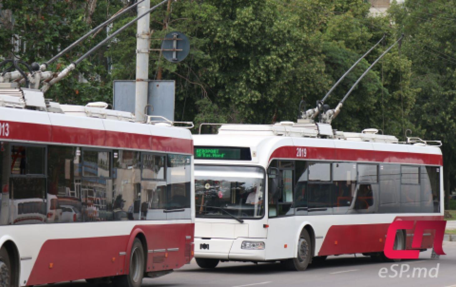 Троллейбус в Бельцах