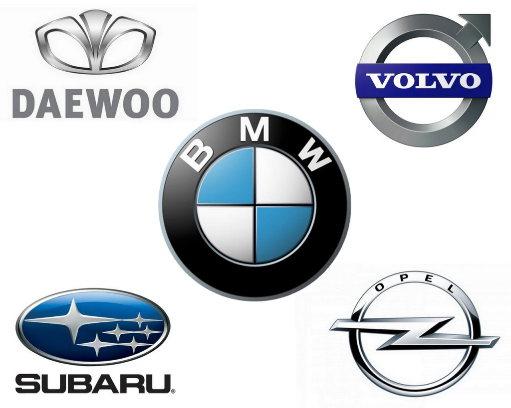 марки машин с картинками эмблем